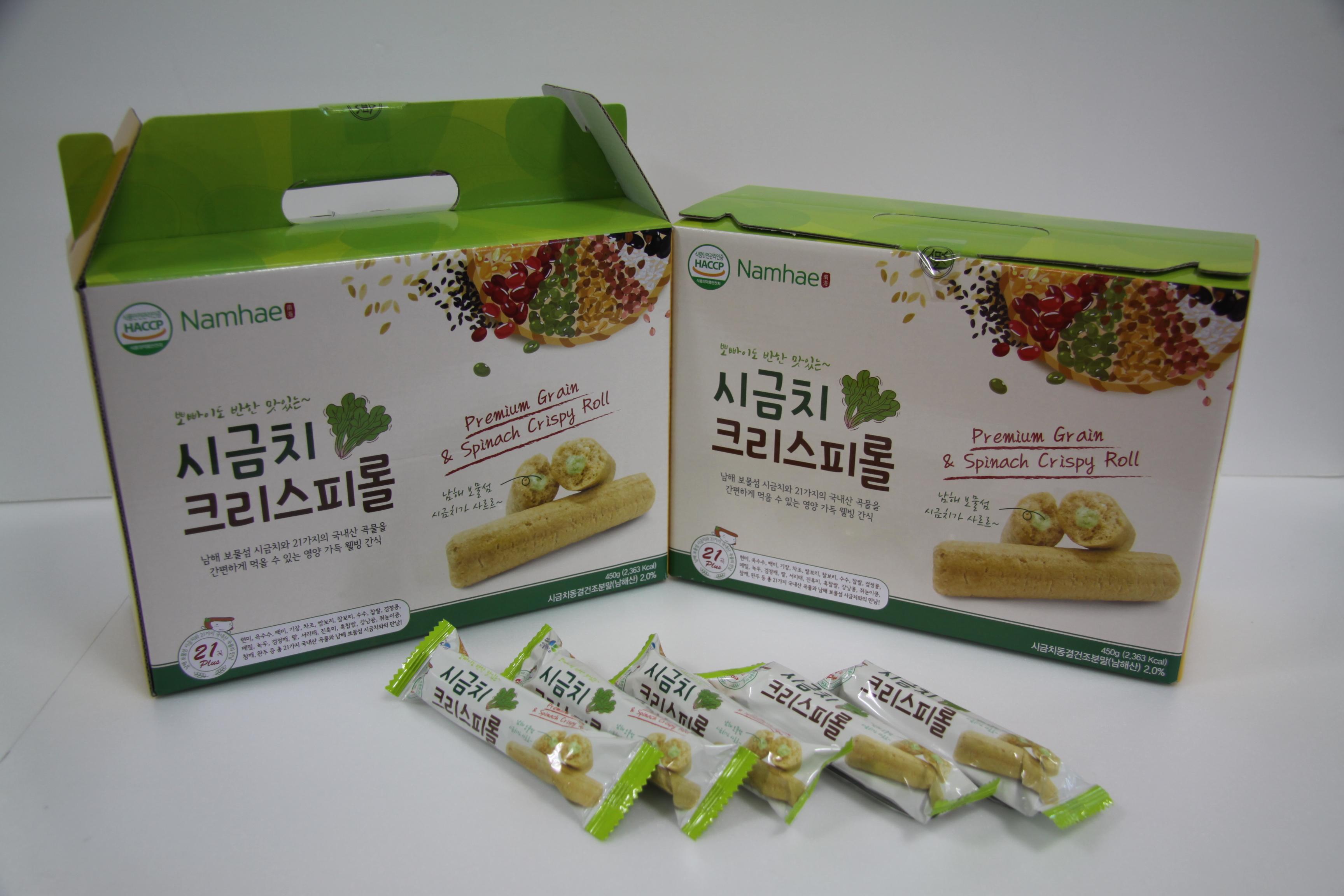 제품 - 시금치크리스피롤